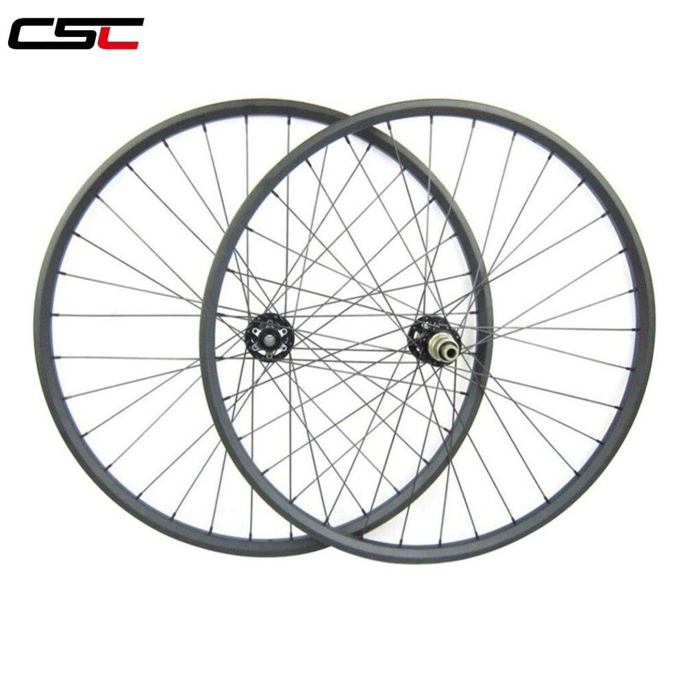 XC race hookless mountain bike carbon MTB 29 wheels UD matte 29 inch 30mm width 25mm