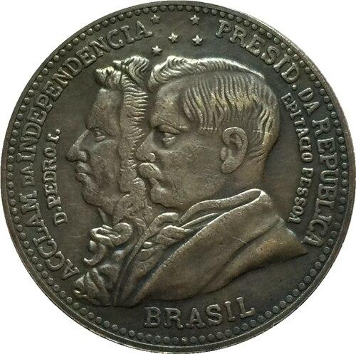 1922 БРАЗИЛИЯ 2000 Reis Монеты Скопируйте Бесплатная доставка