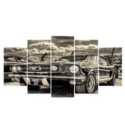 Modern art 5 piece poster pop art 1959 Ford F100 Pick Up. car canvas poster print art modular picture movie poster