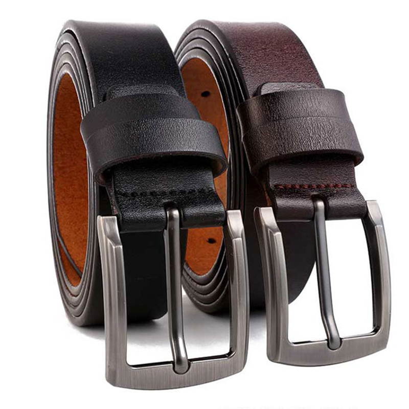 Large Size Genuine Leather Belts for Men Fashion Designer High Quality Pin Buckle Jeans Strap Second Cowskin 140 145 150cm Male
