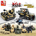 Sluban B0587 Tank DIY Block eductional Building Blocks Sets Military Army Tank Aircraft Children DIY Kids Toys Christmas Gifts