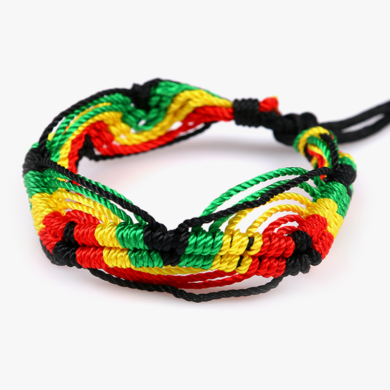 Cheap brazilian bracelet multicolor braided boho chain bohemian tassel handmade sport chain friendship bracelets brown unisex 1
