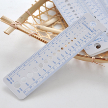1 PCS UK US Canada Knitting Needle Sizes Gauge Inch cm Ruler Tool All In One