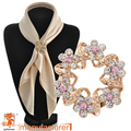 2016 Newest style Korean fashion pink brooch jewelry Luxury rhinestone garland scarf clip wedding brooch pins