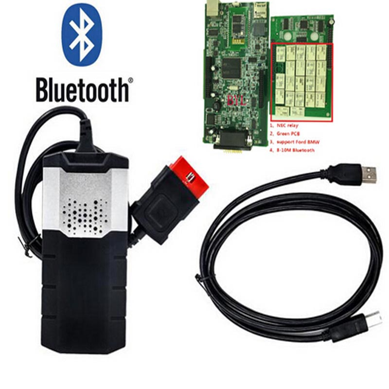 OBD obd2 obdii scanner DS.l5OE.2015.3 with keygen software with bluetooth for car and truck professional diagnostic tool