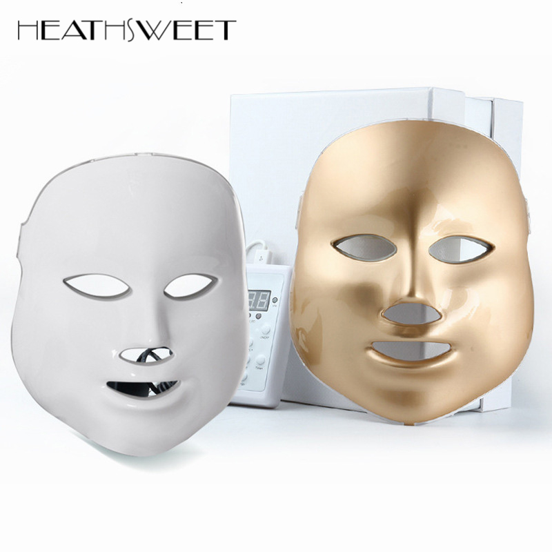 Healthsweet 3 Colors Light Photodynamic LED Facial Mask Home Use Beauty Instrument PDT Anti Acne Skin Rejuvenation Therapy Masks
