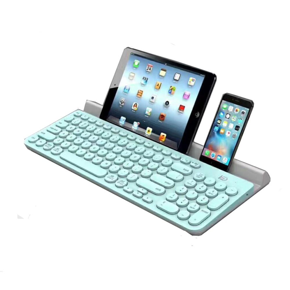 Clavier multi-appareil Bluetooth pour Ipad Iphone ordinateur portable tablette téléphone intelligent Android avec support fille clavier mignon