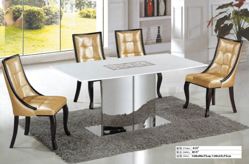 High Quality Marble Dining Table And 4 Chairs 0446 A15