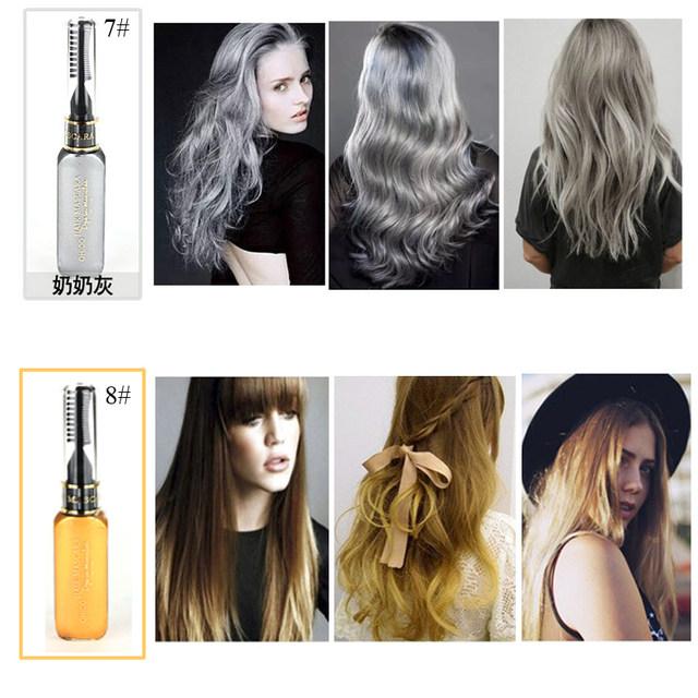 Online Shop Brand Temporary Color Hair Dye Mascara Nontoxic DIY Hair ...