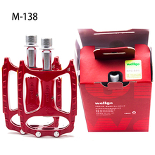 WELLGO M138 pedal road bicycle Mountain bike pedal magnesium alloy Anti-skid pedal chromium molybdenum steel axis wellgo mg 1 mountain maganesium muticolor unique bicycle pedal