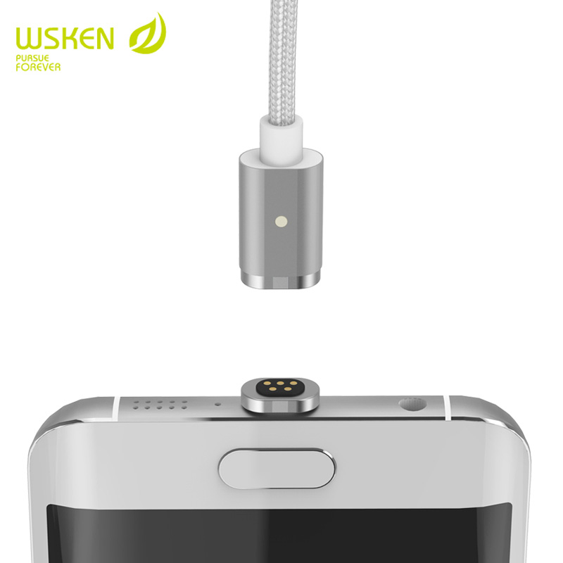 WSKEN Metal mini 2 magnetic cable 2 in 1 usb Cable for iPhone7 6s 6s plus