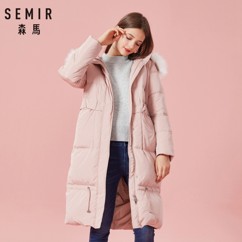 SEMIR New 2018 Winter Jacket   Coat   Women   Down   Parka Plus Size XXL Thick Warm Long Loose Hooded Snow Wear Cotton Padded Jacket