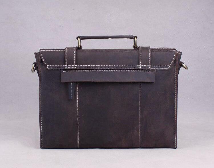 Horse Braun Büro Umhängetasche Tasche Echtes Leder Crazy Handtasche Männer Vintage Umhängetaschen Coffee Tote Dark 5Pw8qtn