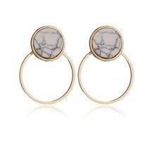 pendientes mujer moda jewelry oorbellen geometric earrings minimalist stud earrings unice pendientes ohrringe korean fashion