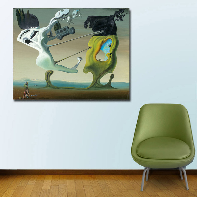 Wxkoil Salvador Dali, Maison Pour Erotomane Painting For Living Room Home Decor Oil Painting Print On Canvas Wall Painting 4