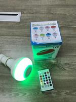led music Wireless Bluetooth Speaker Bulb E27 Smart RGB RGBW Dimmable LED Music Player Audio Light Lamp with 24 Keys Remote Control smart (3)