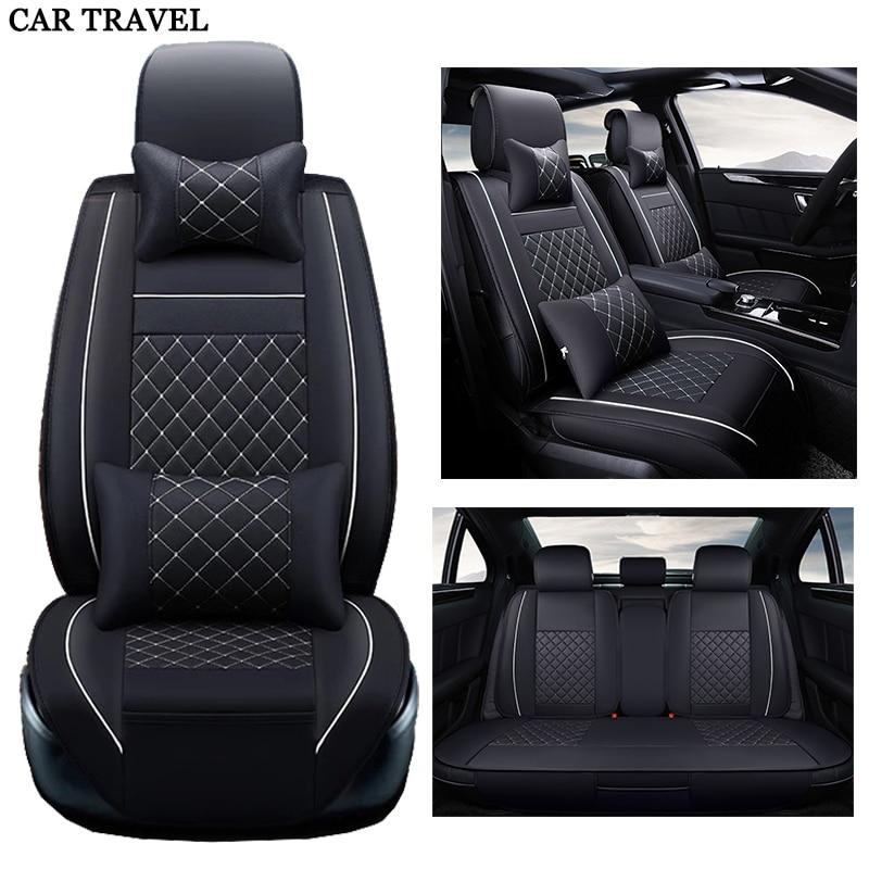 Leather car seat cover set For BMW e30 e34 e36 e39 e46 e60 e90 f10 f30 x3 x5 x6 x1 car accessories styling Car Seats Protector