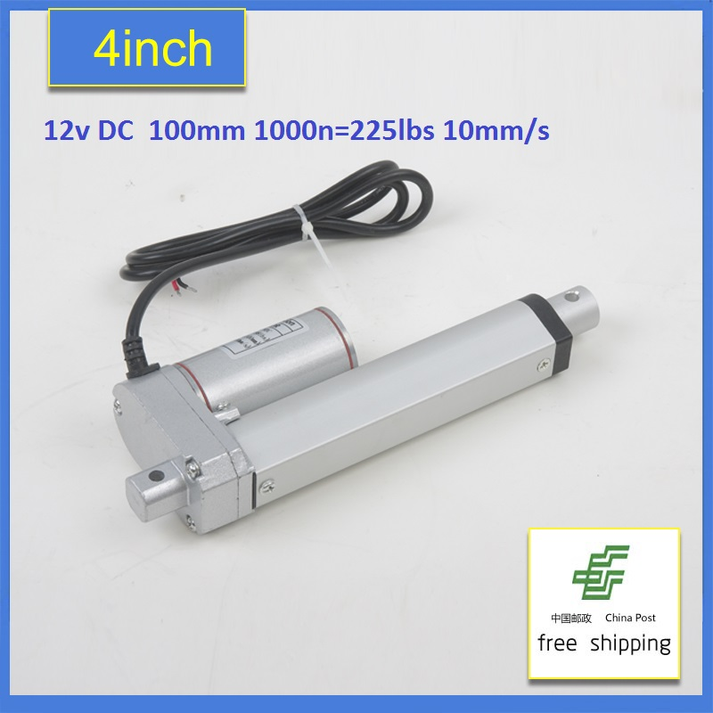 Multi-function Linear Actuator Motor DC12V 100mm Stroke Heavy Duty 1000N 10mm/s-Freeshipping 2 pcs 250mm 10inch stroke heavy duty dc 12v 1500n 330lbs load linear actuator multi function 10