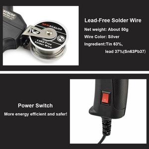 Image 3 - Newacalox kit de ferro de solda elétrica, 50w eu/us, arma de aquecimento interno, portátil, enviar automaticamente, estação de solda de lata, reparo ferramenta,