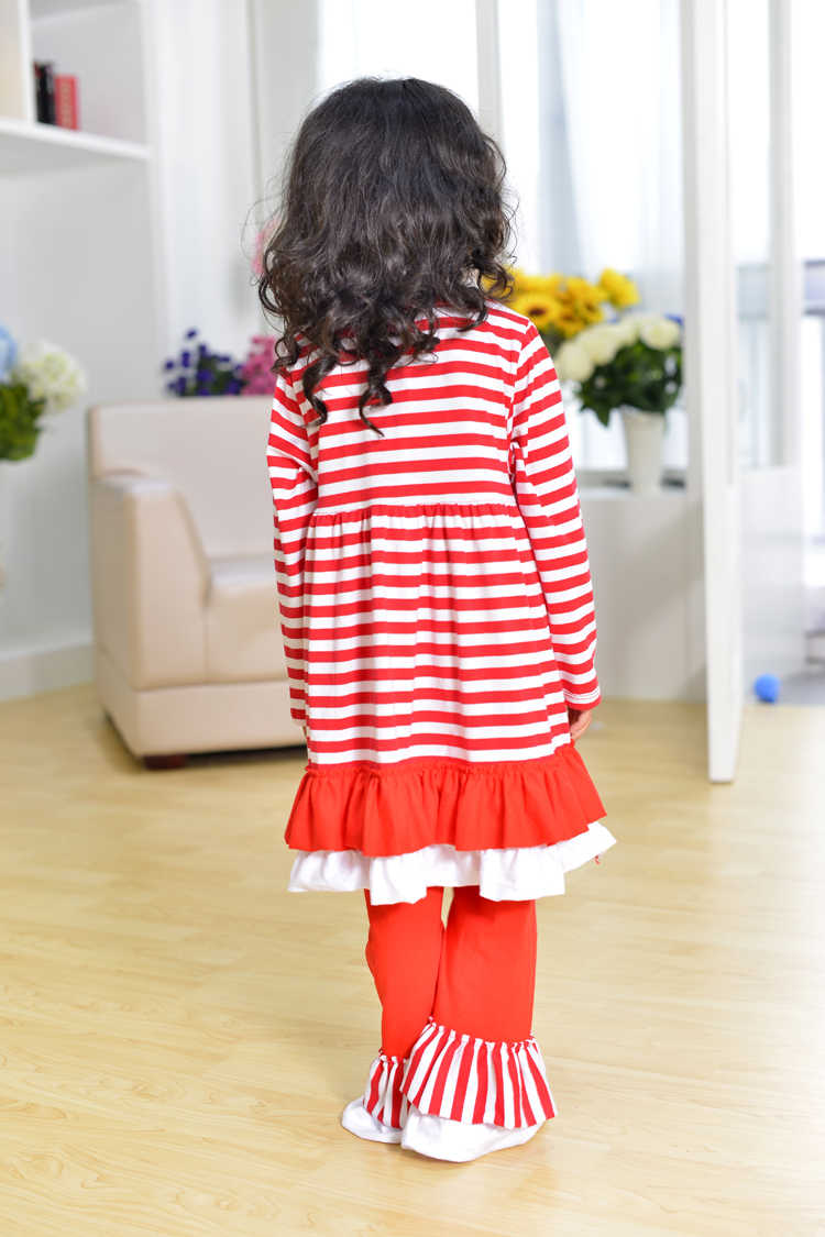fecb244fc ... christmas clothes girls xmas Outfit girl boutique ruffle pants long  sleeve baby girl christmas outfits red ...
