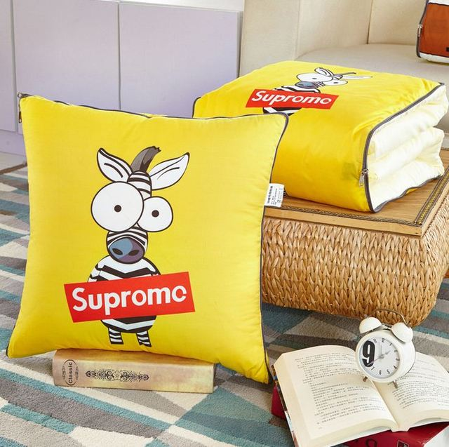 automobile interior seat support,carton style pillow blanket,filling hollow cotton,polyester material