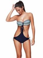 Sexy Sling Bikini Push Up Swimsuit One Piece Swimwear Women S Swimming Suit Bandeau Top High