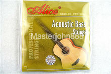 Alice A616-L Acoustic Bass Strings 4-String Steel Corel&Coated Copper Alloy Wound 1st-4th Strings Free Shippng