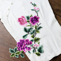 big size flower Embroidered patches para vestuario decorative sew on designer patches for jeans parches bordados para ropa