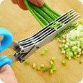 1 Шт Нержавеющей Стали 5 Лезвия Ножниц Cut Измельчители Ножницы Sharp Херб Инструмента Кухни