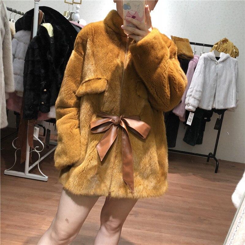 Ginger khaki silver Yellow Vison 2018 Manteau Velours Fourrure Color Tout Paragraphe Nouvelle Long D'hiver Le Dames De a6Rwp7Rq