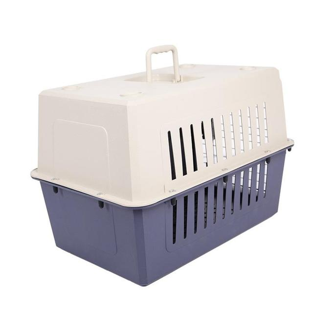 20In Super Sturdy Small Cat & Dog Travel Portable Plastic Crate Pet Carrier Box