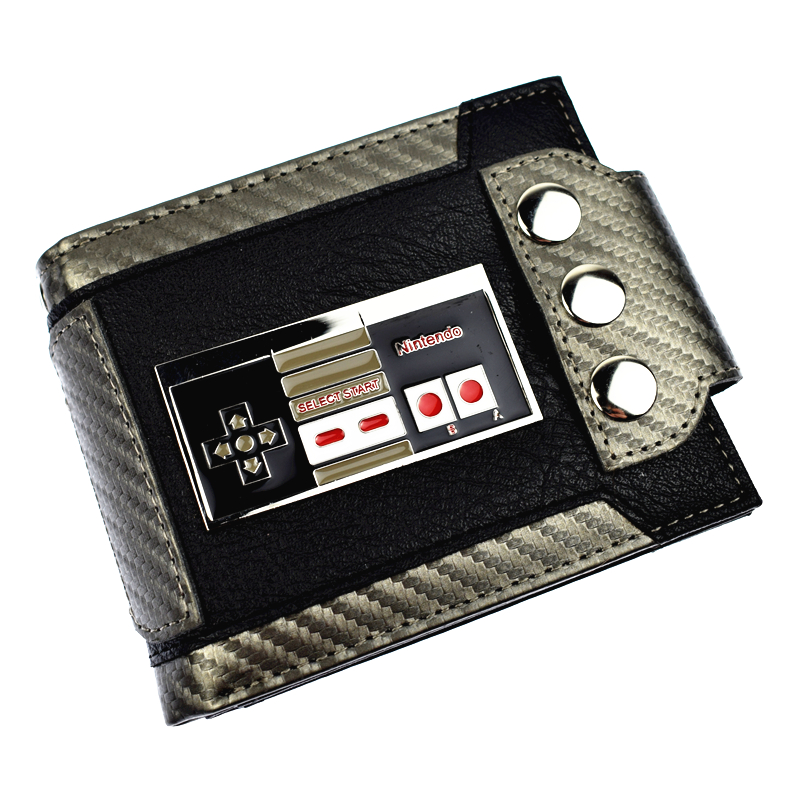 New Arrival Cute Design Game Nintendo Wallet Short Purse With Sequined  Men's Wallets