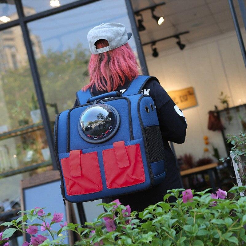 Оксфорд рюкзак для домашних животных переноска для собак воздушная кошка Складная Клетка Складной ящик сумки для домашних животных товары