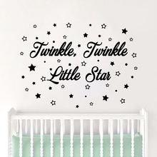Funny Little Star Home Decor Modern Acrylic Decoration Living Room Children Sticker