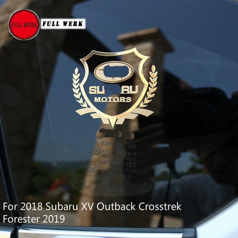 2x carbon fiber Rear Window Side Triangle Sill Sticker for Subaru Forester 2019