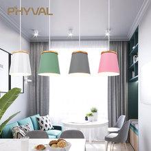 木製北欧用ペンダントライト照明現代の垂れランプアルミランプシェード Led 電球の寝室キッチンライト鉄 E27