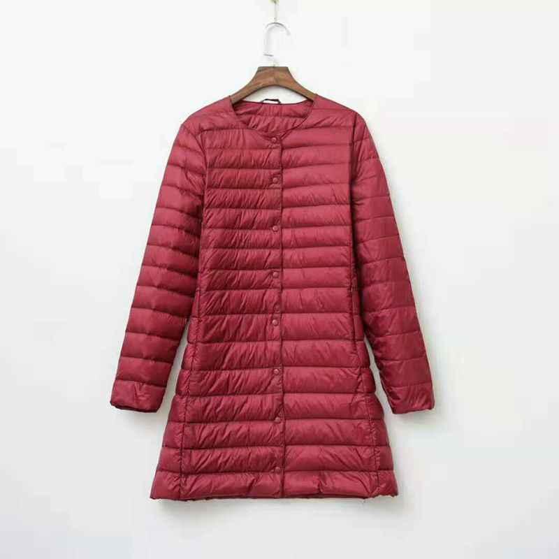 NewBang Брендовые женские пальто ультра легкий пуховик женский длинный пуховик женский легкий теплый Linner тонкий портативный