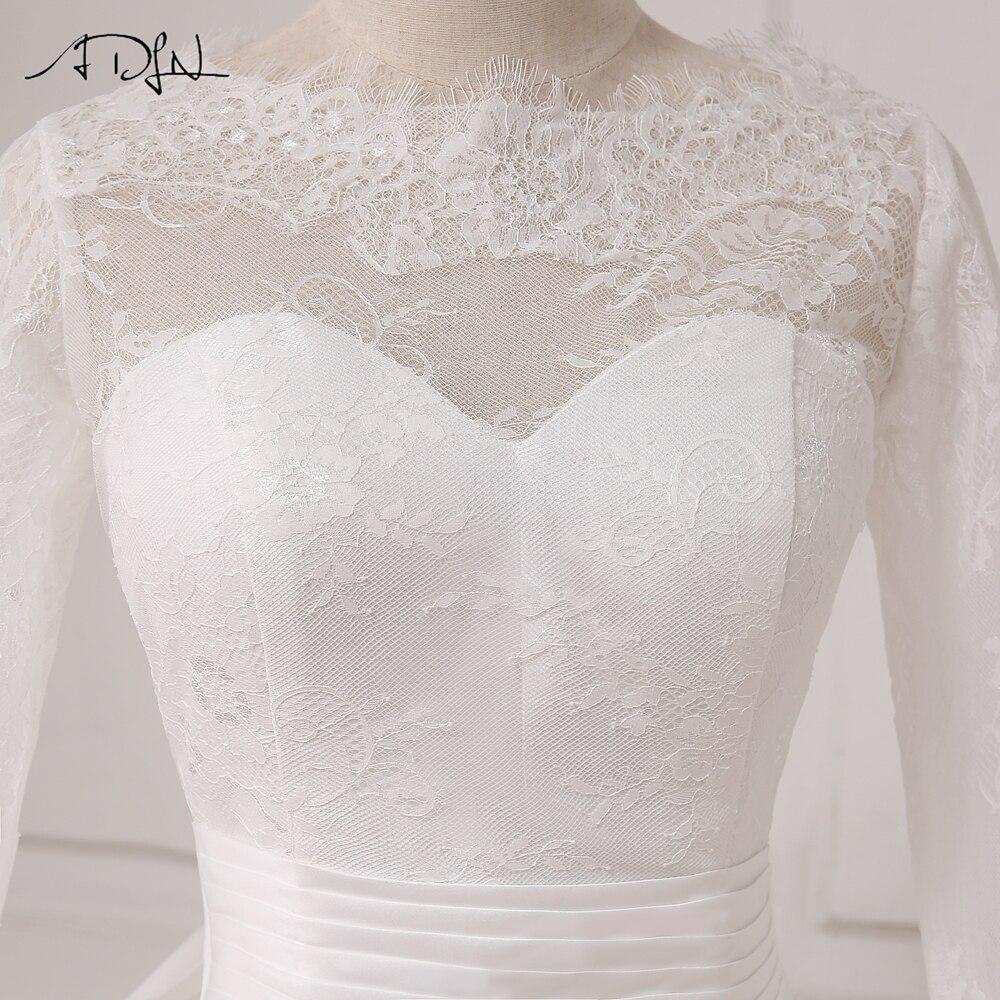 ADLN A-line Bröllopsklänning Långärmade Tulle Golvlängd Arabiska - Bröllopsklänningar - Foto 5