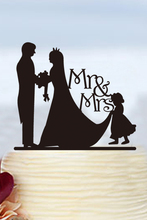 Mr & Mrs Custom Cake Toppers Wedding Decoration Modern Toppers Mariage Personalized Topper Acrylic Bride and Groom Cake Toppers