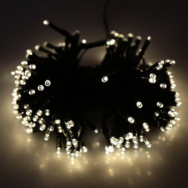 JFBL 200 LED Solar Luz de la Secuencia de Hadas de Luz para la Boda de Navidad Jardín Decoración del árbol blanco cálido