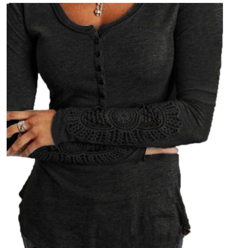 HTB1YWNfLpXXXXabXFXXq6xXFXXXB - Autumn Womens Style Lace Long Sleeve Hollow Solid