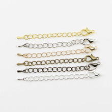US $1.79 30% OFF|20pcs/lot 50 70mm Tone Extended Extension Tail Chain Lobster Clasps Connector For DIY Jewelry Making Findings Bracelet Necklace-in Jewelry Findings & Components from Jewelry & Accessories on Aliexpress.com | Alibaba Group