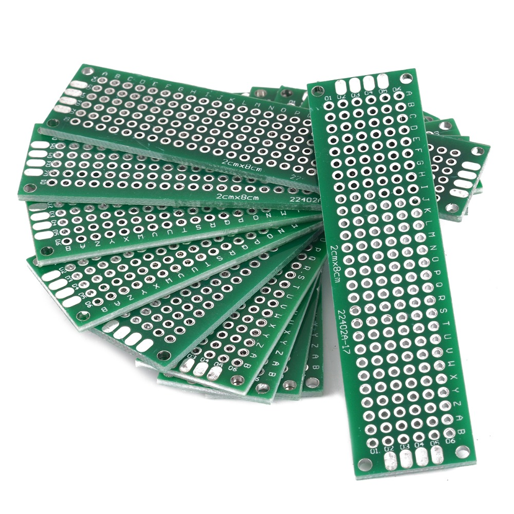 40pcs Double Sided Universal PCB Board Prototype Circuit Tinned Breadboard PCB Board Set DIY Electrical Tool 300 tie points prototype solderless breadboard white