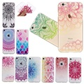 Soft Case for Iphone 5 5s Se 6 6s 7 Plus Thin Clear Totem Court Flower National Mandala Lady Grain Cover Full Protector Back