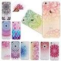 Soft case para el iphone 5 5s se 6 6 s 7 más delgada claro Corte Flor Mandala Nacional Totem Señora Grano Cubierta Completa Protector de Espalda