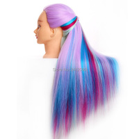 5 Styles Mixed Color Cosmetology Mannequin Head Professional Styling Head Women Hairdressing Dummy Doll Wig Training