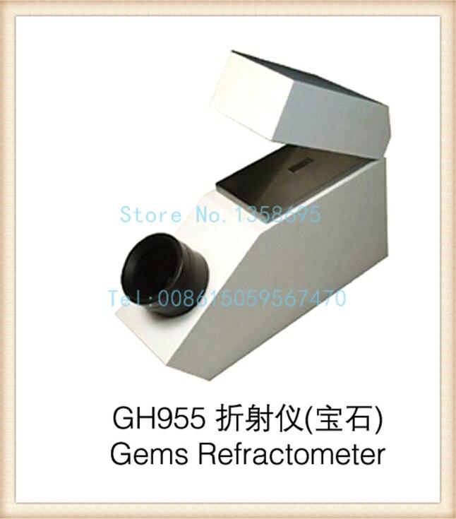 Gh955 Gemelogical Gemstone Gem Refratômetro com Construído na Luz 1.30-1.81 RI Gama, máquina de teste de diamante
