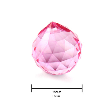 50pcs 15mm Pink Chandelier Crystal Balls Cut-faceted Balls For Hanging Lamp&lighting Part Home Decor