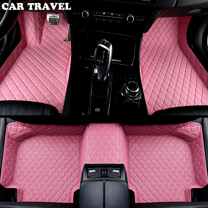 car floor mats for Audi A6L R8 Q3 Q5 Q7 S4 S5 S8 RS TT Quattro A1 A2 A3 A4 A5 A6 A7 A8 auto accessories car sticks Custom foot special leather only 2 front car seat covers for audi tt a6l r8 q3 q5 q7 s4 quattro a1 a2 a3 a4 a6 a8 car accessories