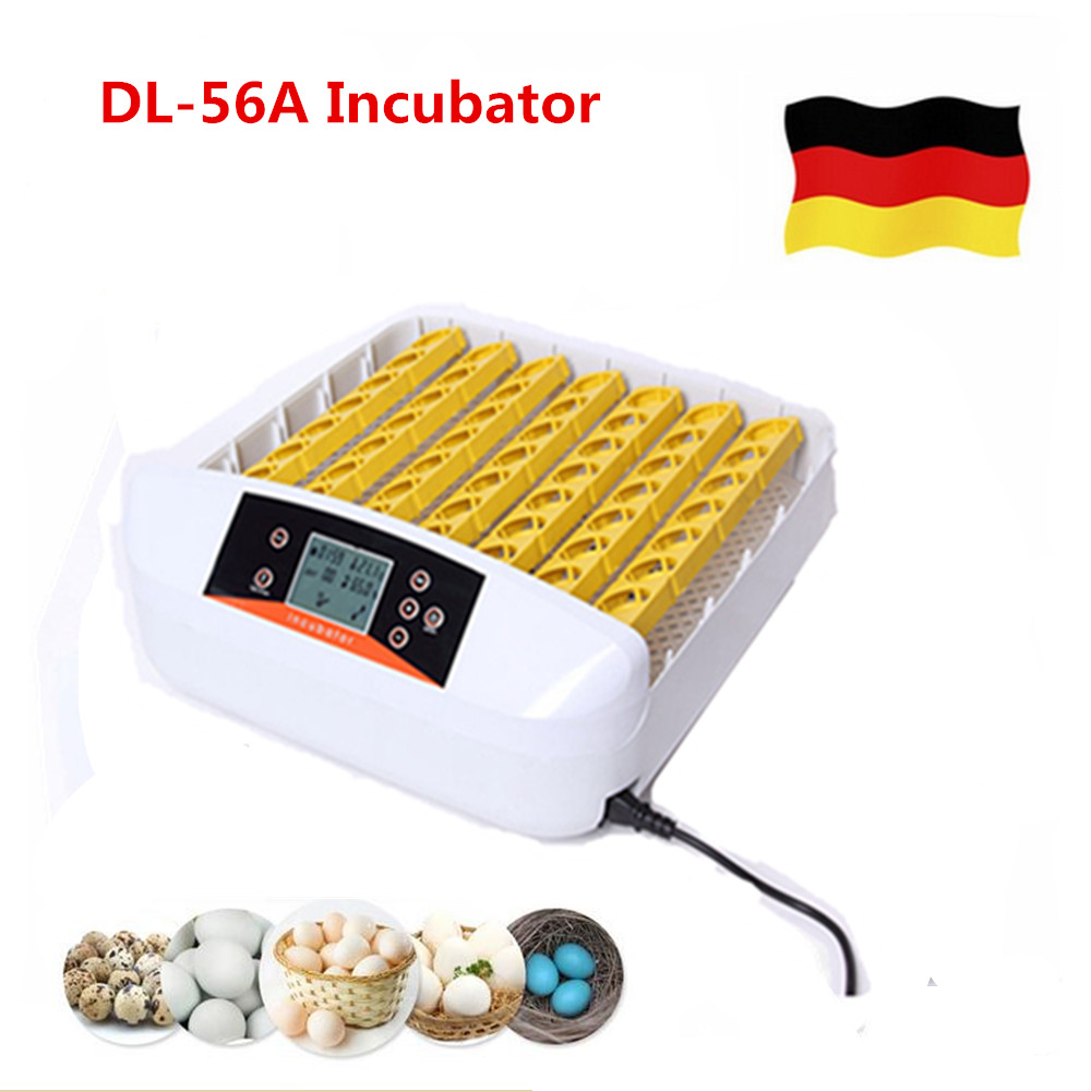 цена на Newest  80W Automatic 56 Eggs Incubator  Digital Clear eggs turner  for Chicken Duck Eggs Poultry Incubation tools